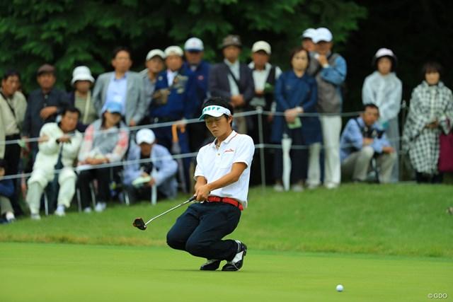 2017年 日本オープンゴルフ選手権競技 2日目 浅地洋佑 入ってくれないのね・・・。