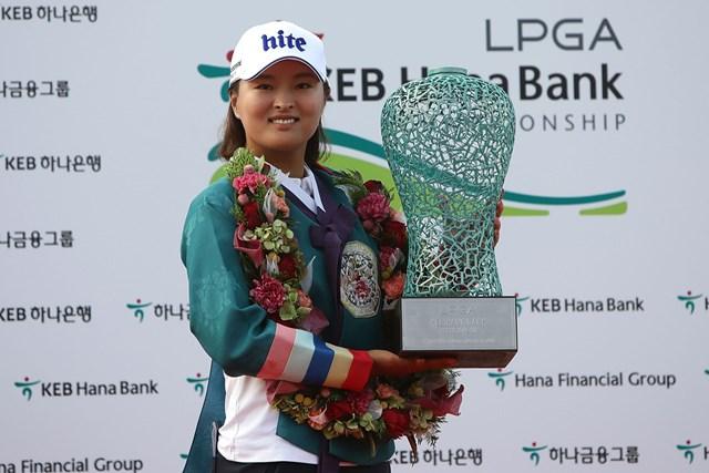 2017年 LPGA KEB・ハナバンク選手権 最終日 コ・ジンヨン 米ツアー初優勝を挙げたコ・ジンヨン (Chung Sung-Jun/Getty Images)