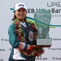 米ツアー初優勝を挙げたコ・ジンヨン (Chung Sung-Jun/Getty Images) 2017年 LPGA KEB・ハナバンク選手権 最終日 コ・ジンヨン