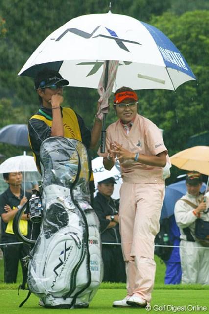 雨の中、本当に楽しそうな表情の藤田幸希