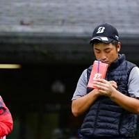 チラッ。あ、まだそんな貯まってないや。 2017年 ブリヂストンオープンゴルフトーナメント 3日目 中島徹