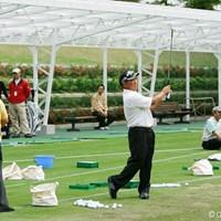 練習場では和やかな表情に戻った 2007年 中日クラウンズ タッド・フジカワ