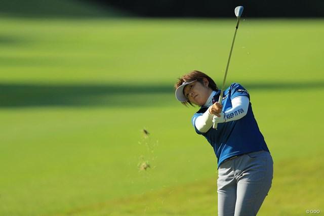 2017年 樋口久子 三菱電機レディスゴルフトーナメント 初日 福嶋浩子 鋭いショットでバーディを奪った福嶋浩子。不振から抜け出しつつある