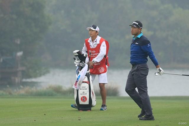 日本に帰国後、日米首脳とのゴルフに臨む松山英樹