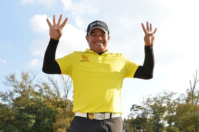 2017年 富士フイルムシニアチャンピオンシップ 最終日 プラヤド・マークセン 今季4勝を挙げ、2年連続賞金王を戴冠したマークセン(提供:PGA)