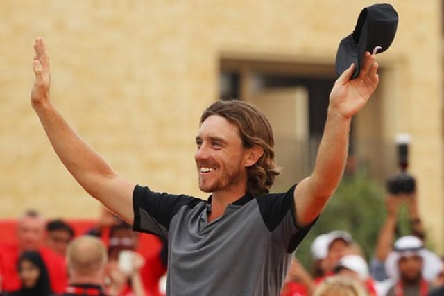フリートウッドは自身初の年間タイトルを獲得できるか(※Getty Images/「アブダビHSBCゴルフ選手権」)