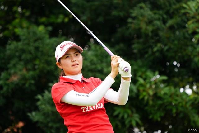 ダンロップスポーツと契約した新垣比菜は1日も早いツアーVを目指す(写真は2017年の日本女子オープンゴルフ選手権競技3日目)