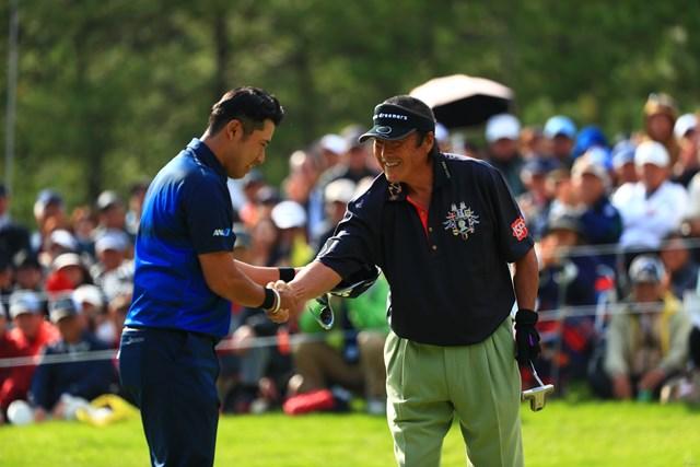 2017年 ダンロップフェニックストーナメント 初日 松山英樹 尾崎将司 松山英樹は首位に2打差の4位で発進した