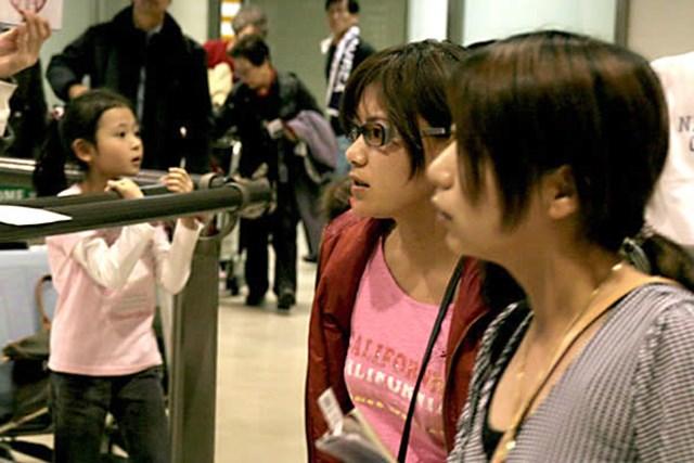 2007年 ANZレディースマスターズ 横峯さくら 家族らとともに帰国した横峯さくら さすがに少しお疲れの様子