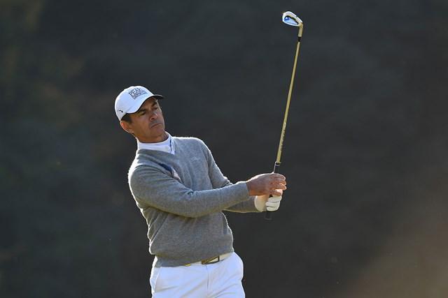 最終ラウンドを残してトップに立ったマイヤー ※日本プロゴルフ協会提供画像