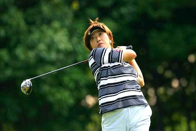 2007年 福嶋晃子 テーラーメイドと用品契約を交わした福嶋晃子