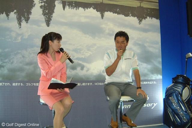 2007年 ジャパンゴルフフェアのトークショー 横田真一 トークショーの壇上で手術の可能性を示唆した横田真一