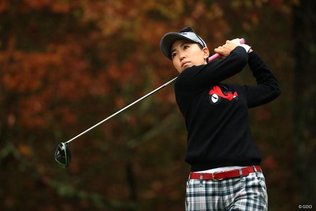 今季3勝目を目指す上田桃子が「64」で2位浮上