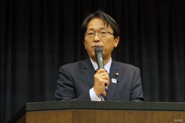 自民党合同部会で挨拶する丹羽文部科学副大臣