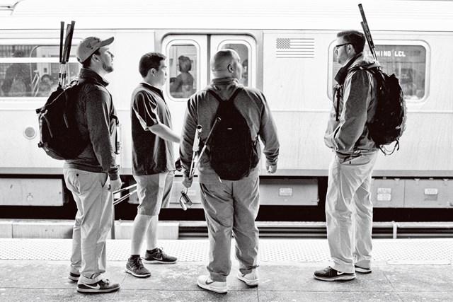 ニューヨーク州ママノネック在住のスティーブン・シャーウッド、アレックス・ドーン、アルバート・パエズとブライアン・ビグ (Alan P. Pitman/米ゴルフダイジェスト誌)