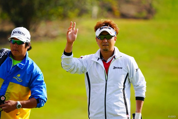決まってるけどただのパー。 2017年 カシオワールドオープンゴルフトーナメント 初日 塚田陽亮