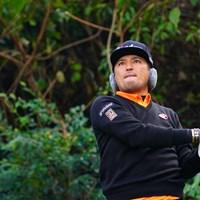 音楽聴きながらショットしちゃダメじゃないか!ってね。 2017年 カシオワールドオープンゴルフトーナメント 初日 正岡竜二