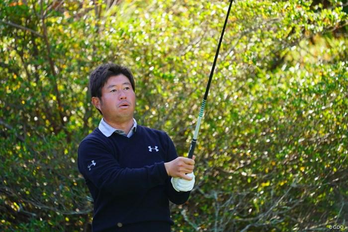 頭に何もつけてないと普通の人みたい。 2017年 カシオワールドオープンゴルフトーナメント 初日 松村道央