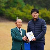 ドラコン賞ゲット。それにしてもデカく見える。 2017年 カシオワールドオープンゴルフトーナメント 最終日 額賀辰徳