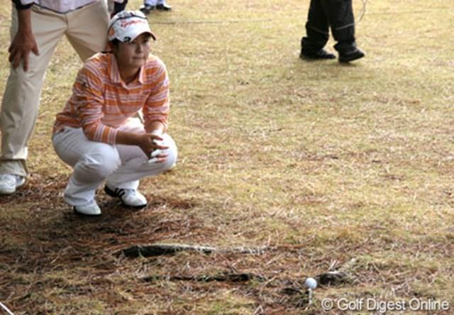 2006年 LPGAツアーチャンピオンシップ 最終日 諸見里しのぶ 14番ホール。諸見里のティショットは