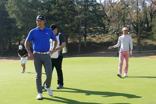 2017年 ゴルフ日本シリーズJTカップ 事前 チャン・キム プレーは小鯛竜也に代わったものの、18ホールを帯同したチャン・キム