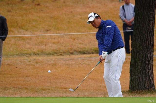 2017年 ゴルフ日本シリーズJTカップ 初日 小田孔明 あ、やっちゃった。ちびった。