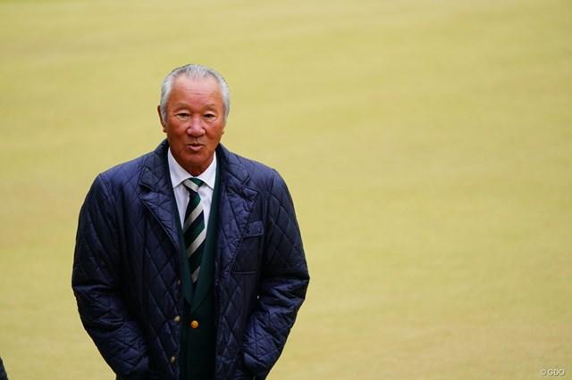 2017年 ゴルフ日本シリーズJTカップ 初日 青木功 青木さんが3番のサブグリーン上にいた。