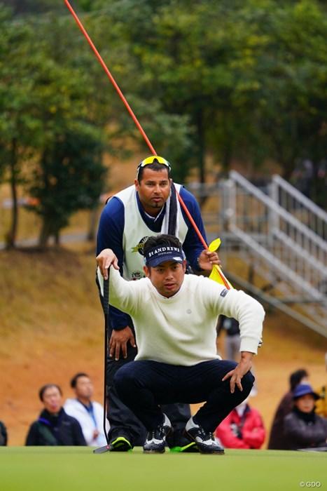 「俺がスライスって言ったらフックでもスライスだろ!」「ヘイ、ボス!たりめーです。」 2017年 ゴルフ日本シリーズJTカップ 2日目 池田勇太