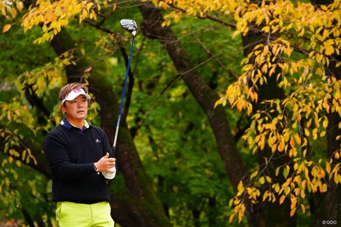 今日は緑のオシャレな色のパンツ履いてた。 2017年 ゴルフ日本シリーズJTカップ 2日目 リュー・ヒョヌ