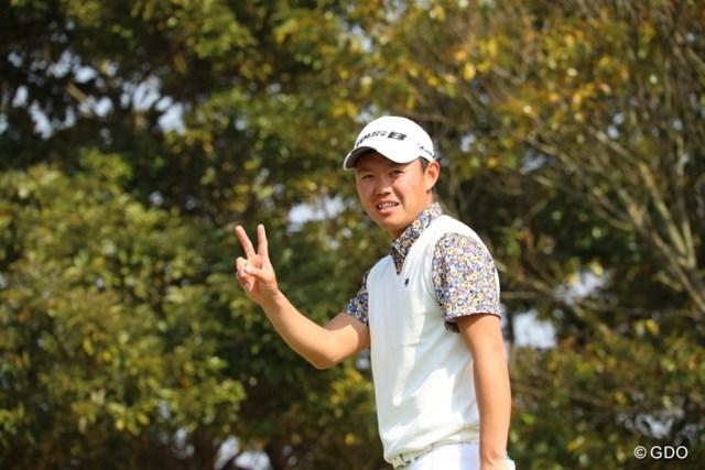 首位タイに立った木下稜介※撮影は2017年「東建ホームメイトカップ」