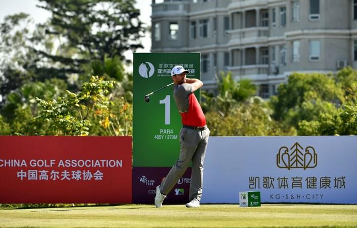 首位に浮上したマーカス・ボス 2017年 kg s&h city アジアンゴルフチャンピオンシップ 3日目 マーカス・ボス