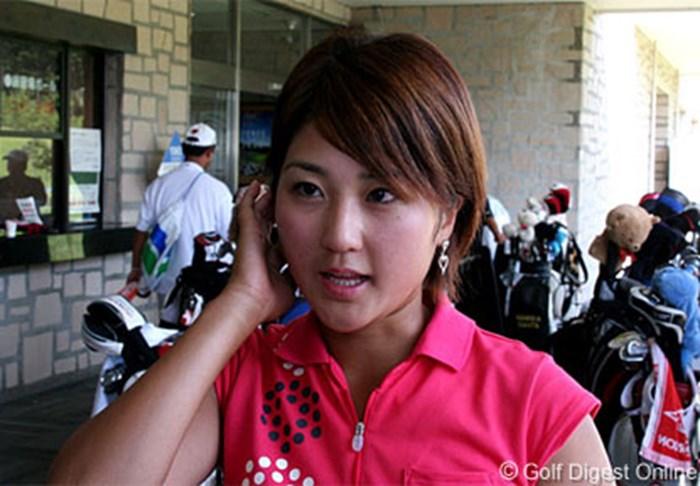 「33」「46」逆大波賞?派手なスコアカードを作ってしまったアマチュアの竹村千里 2006年 ヨネックスレディスゴルフトーナメント 初日 竹村千里