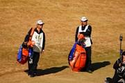 2017年 ゴルフ日本シリーズJTカップ 最終日 藤本と高山のキャディ