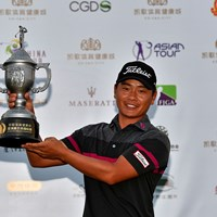 初優勝を飾った中国のシャオ・ボーウェン※アジアンツアー提供 2017年 kg s&h city アジアンゴルフチャンピオンシップ 最終日 シャオ・ボーウェン