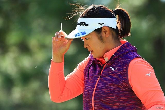川岸史果は日本勢3番手の44位(※写真は2017年LPGAツアー選手権リコーカップ)