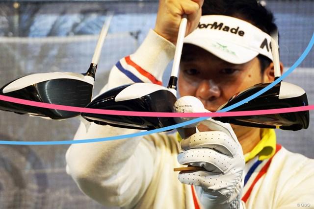 ピンク線(1プレーン) 青線(2プレーン)のヘッド軌道