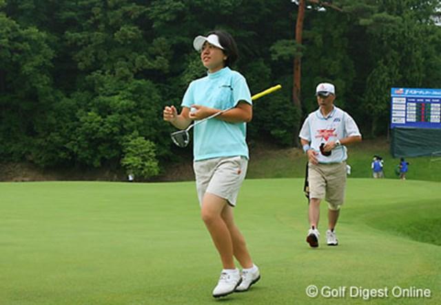 2006年 ベルーナレディースカップゴルフトーナメント 2日目 宮里美香 ベストスコアタイをマークし6位タイにつけた宮里美香。昨年の順位(9位)を上回りたいと意気込みを語る