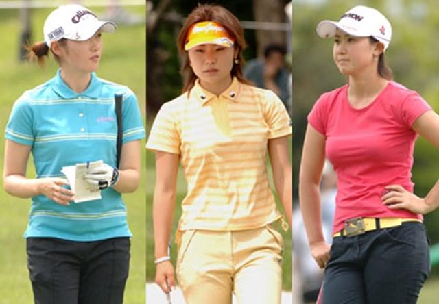 夏を先撮り!飯島茜(左)、藤田幸希(中)、古閑美保(右)、女子プロ達の鮮やかなファッション