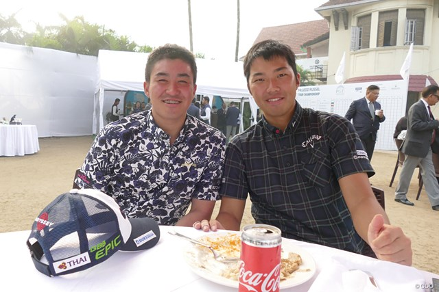 2017年 小斉平優和 和田章太郎 国内ツアー枠でインドツアーに参戦している小斉平優和(左)と和田章太郎