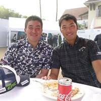 国内ツアー枠でインドツアーに参戦している小斉平優和(左)と和田章太郎 2017年 小斉平優和 和田章太郎