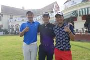 2017年 マクラウド・ラッセル ツアー選手権  最終日 (左から)小斉平優和、川村昌弘、和田章太郎