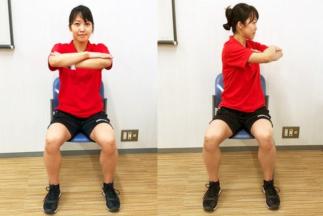 手軽に実践できるストレッチ。腰痛予防にも有効です