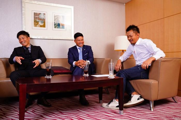 同学年の3人は「またいつか一緒にラウンドしよう」と誓った 清田太一郎 宮里優作 岩田寛