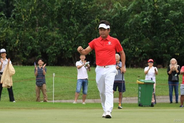 チームアジアでただ1人全勝の3ポイントを稼いだ池田勇太