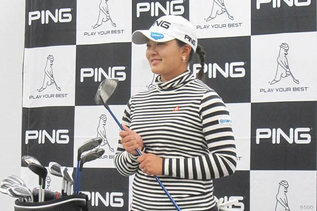 鈴木愛と、ピンゴルフ G400 MAX ドライバー 「年間3勝以上」を目標に掲げた鈴木愛。新ドライバーで達成となるか