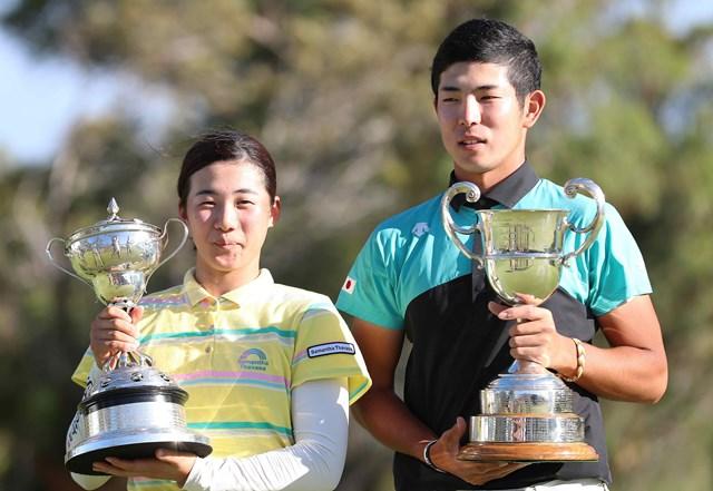 それぞれ優勝した山口すず夏(左)と中島啓太※大会提供