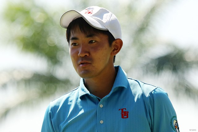 昨年日本オープンで2位になった金谷拓実。スーパーアマチュアは3年連続の大会出場となった