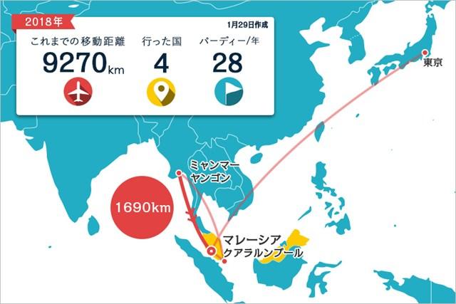 アジアでのプレーが続きます