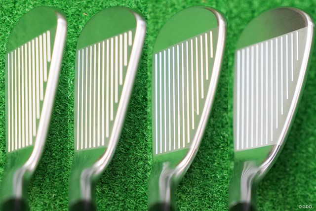左から6番、7番、8番、9番のヘッド形状。ストレートネックで顔つきはシャープ。見た目のやさしさよりも、操作性の高さを意識した形状に仕上がっている