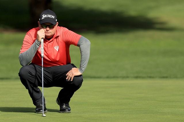 レフティのテッド・ポッターJr.はダスティン・ジョンソンを破って米ツアー2勝目を挙げた(Mike Ehrmann/Getty Images)
